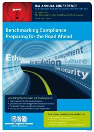 Benchmarking Compliance Preparing for the Road Ahead