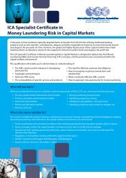 ICA Specialist Certificate in Money Laundering Risk in Capital Markets