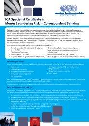 ICA Specialist Certificate in Money Laundering Risk in Correspondent Banking