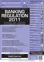 BANKING REGULATION 2011