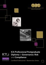 ICA Professional Postgraduate Diploma in Governance Risk and Compliance