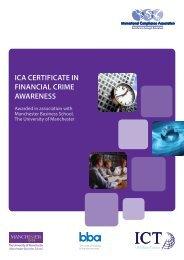 ICA CERTIFICATE IN FINANCIAL CRIME AWARENESS