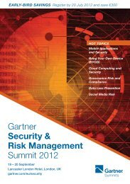 Gartner Security & Risk Management Summit 2012