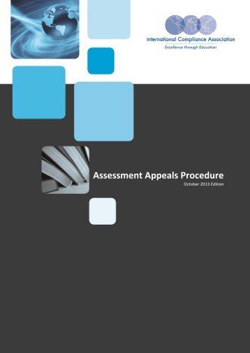 Assessment Appeals Procedure