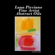 Lana Picciano Fine Artist Abstract Oils