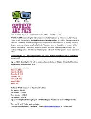 A Call to Artists for: the 4th Annual Art Walk Fort Myers – Saturday ...