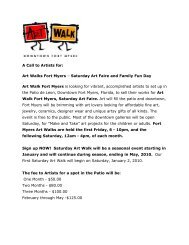 A Call to Artists for: Art Walks Fort Myers – Saturday Art Faire and ...