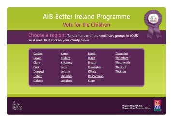 AIB Better Ireland Programme