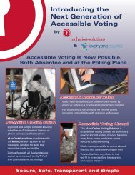 Next Generation of Accessible Voting