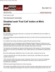 Disabled seek 'Fuel Call' button at Mich pumps
