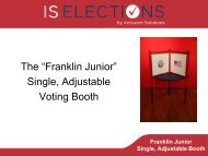 Single Adjustable Voting Booth
