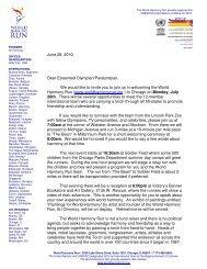 June 28, 2010 Dear Esteemed Olympian/Paralympian, We would ...