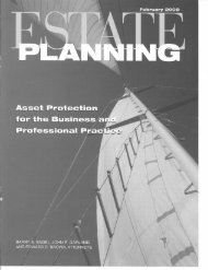 Estate Planning Magazine Feb 2008 - Engel & Reiman pc
