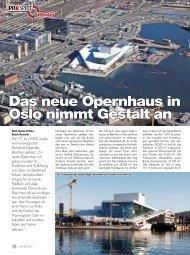 Das neue Opernhaus in Oslo nimmt Gestalt an