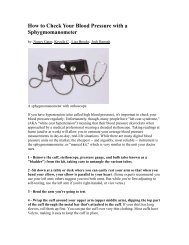 How to Check Your Blood Pressure with a Sphygmomanometer
