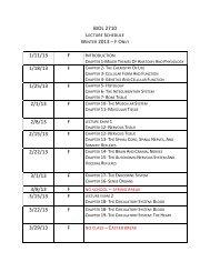 biol 2710 winter 2013 – fo 1/11/13 f 1/18/13 f 1/25/13 f 2/1/13 f 2/8/13 ...