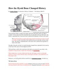 How the Hyoid Bone Changed History