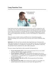 Lung Function Tests ------------------------------------------------------------