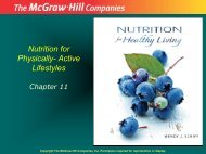 Nutrition for Physically- Active Lifestyles
