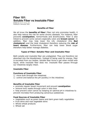 Fiber 101 Soluble Fiber vs Insoluble Fiber