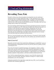 Revealing Trans Fats