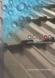 Acryloc Roof Coating Colour Chart - Concrete Colour Systems