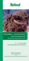 Biolandbau - werteorientiert und leistungsstark