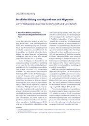 Berufliche Bildung von Migrantinnen und Migranten Ein - BiBB