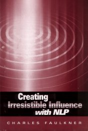 Creating irresistible influence - NLP Info Centre