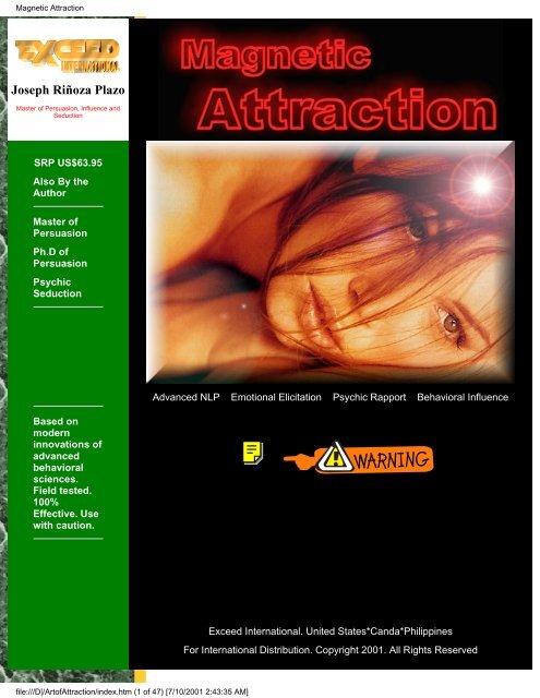 Magnetic Attraction (Joseph R Plazo) pdf - NLP Info Centre