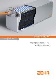 Thermomanagement bei Hybridfahrzeugen - Behr