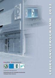 LEHRGANGSPROGRAMM 201 2