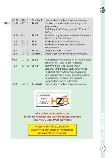 LEHRGANGSPROGRAMM 201 3