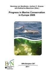 Progress in Marine Conservation in Europe 2009 - Bundesamt für ...