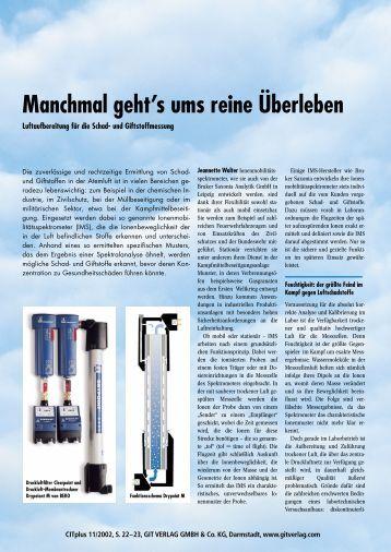 Manchmal geht's ums  reine Ãœberleben - BEKO Technologies GmbH