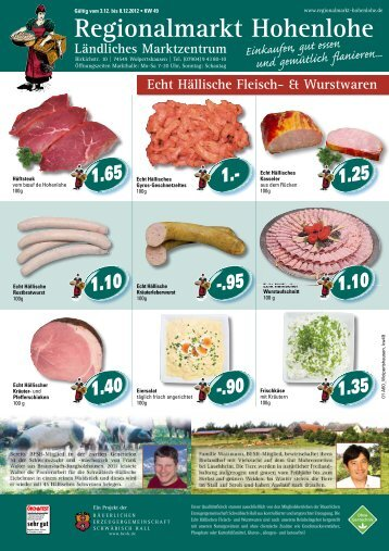 Regionalmarkt Hohenlohe - Bäuerliche Erzeugergemeinschaft ...