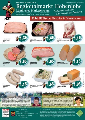 Regionalmarkt Hohenlohe 1.99 - Bäuerliche Erzeugergemeinschaft ...