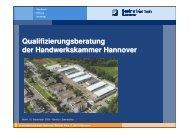Qualifizierungsberatung der Handwerkskammer Hannover