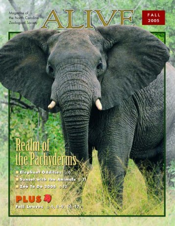 Magazine of the North Carolina Zoological Society