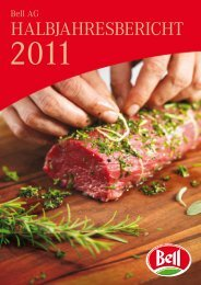 Halbjahresbericht 2011 - Bell AG