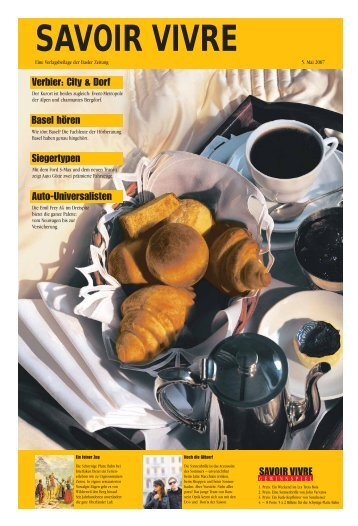 SAVOIR VIVRE - Basler Zeitung