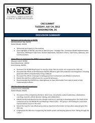 CNS SUMMIT TUESDAY JULY 24 2012 WASHINGTON DC DISCUSSION SUMMARY
