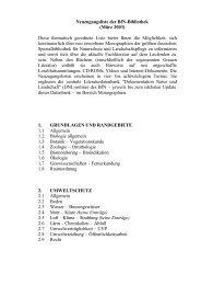 2.6 Lärm – Chemikalien – Abfall - Bundesamt für Naturschutz