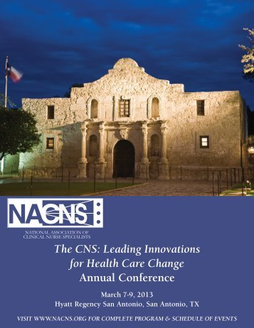 The CNS Leading Innovations for Health Care Change Annual Conference