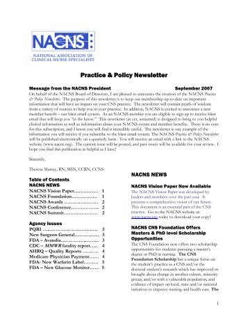 Practice & Policy Newsletter