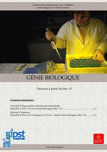 GÉNIE BIOLOGIQUE