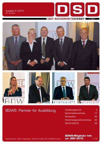BDWS: Partner für Ausbildung