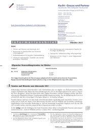 Mandantenrundschreiben 10/13 - Grasse & Kucht