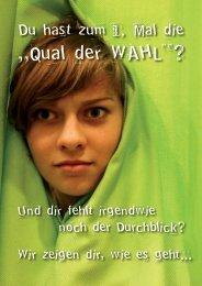 """""""Qual der WAHL""""?"""