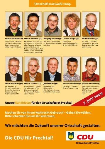 Wahlprospekt 2009 als pdf-Datei - CDU Stadtverband Elzach